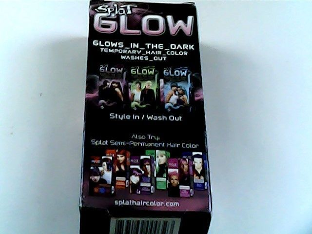 Splat Glow In The Dark Temporary Hair Color Dye Cosmic Pink Usa Only