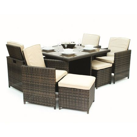 You should see this Hermus 9 Piece Cube Dining Set in Espresso on Daily Sales!