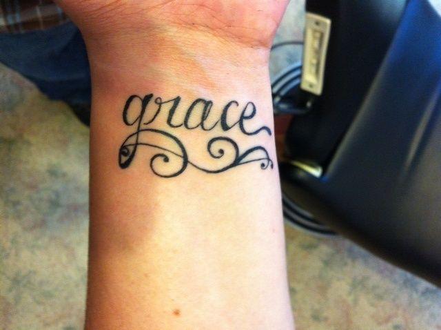 Pin By Lori Jones On Tattoo Ideas Tattoos Grace Tattoos Word Tattoos