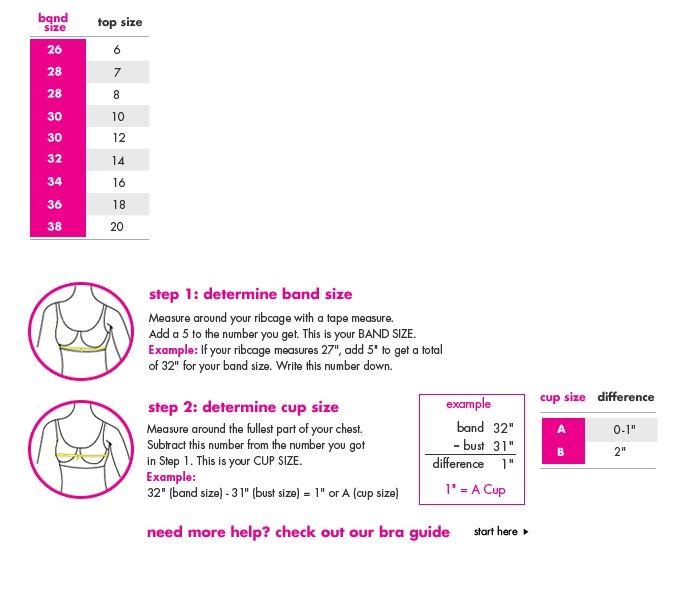 Justice Size Chart | Bra size charts, Size chart, Measure