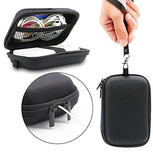 Carrying Pouch Geekercity Portable EVA Case Impact Resistant Travel Pouch Bag Power Bank Organizer Sleeve Pocket With Mesh Accessory Pouch for USB Cable Earphone ** Find out more about the great product at the image link.Note:It is affiliate link to Amazon.