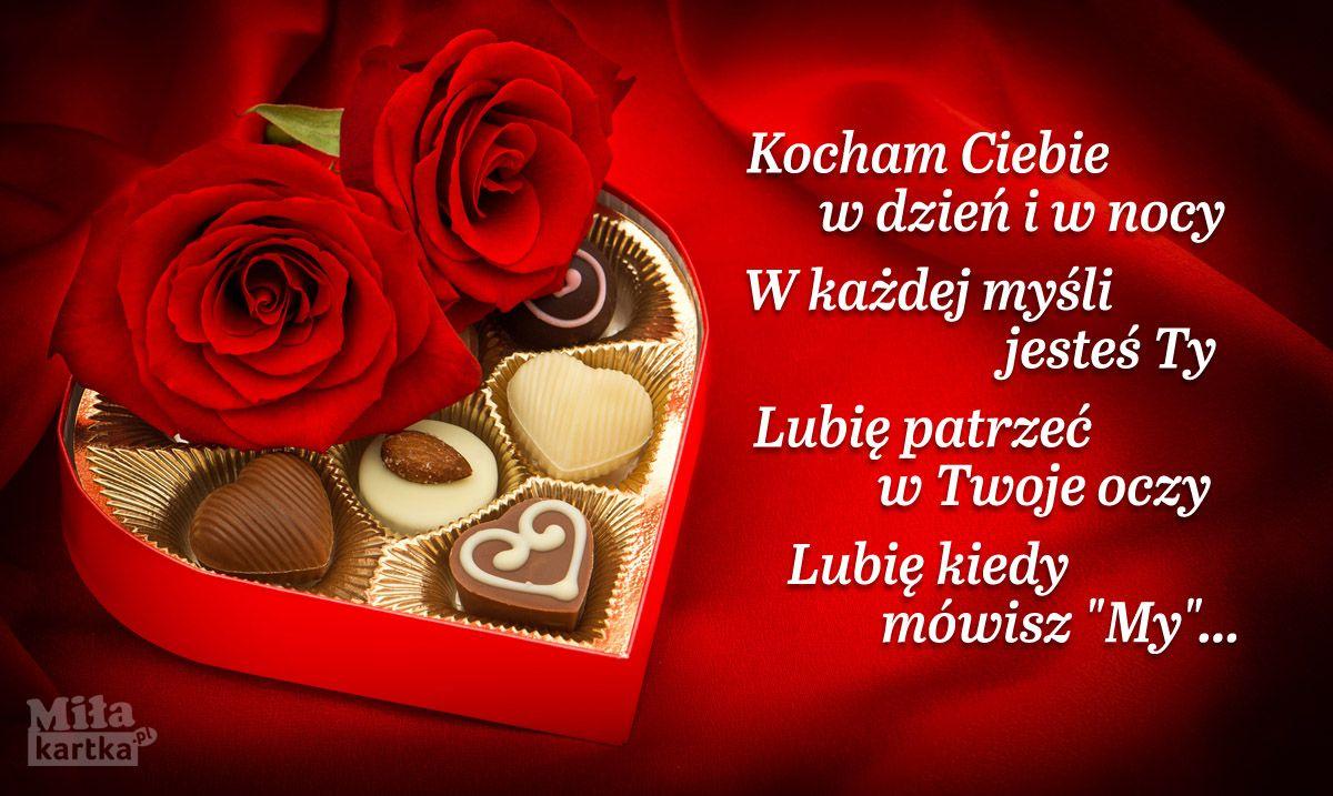 Kocham Ciebie W Dzien I W Nocy Milosc Walentynki With Images