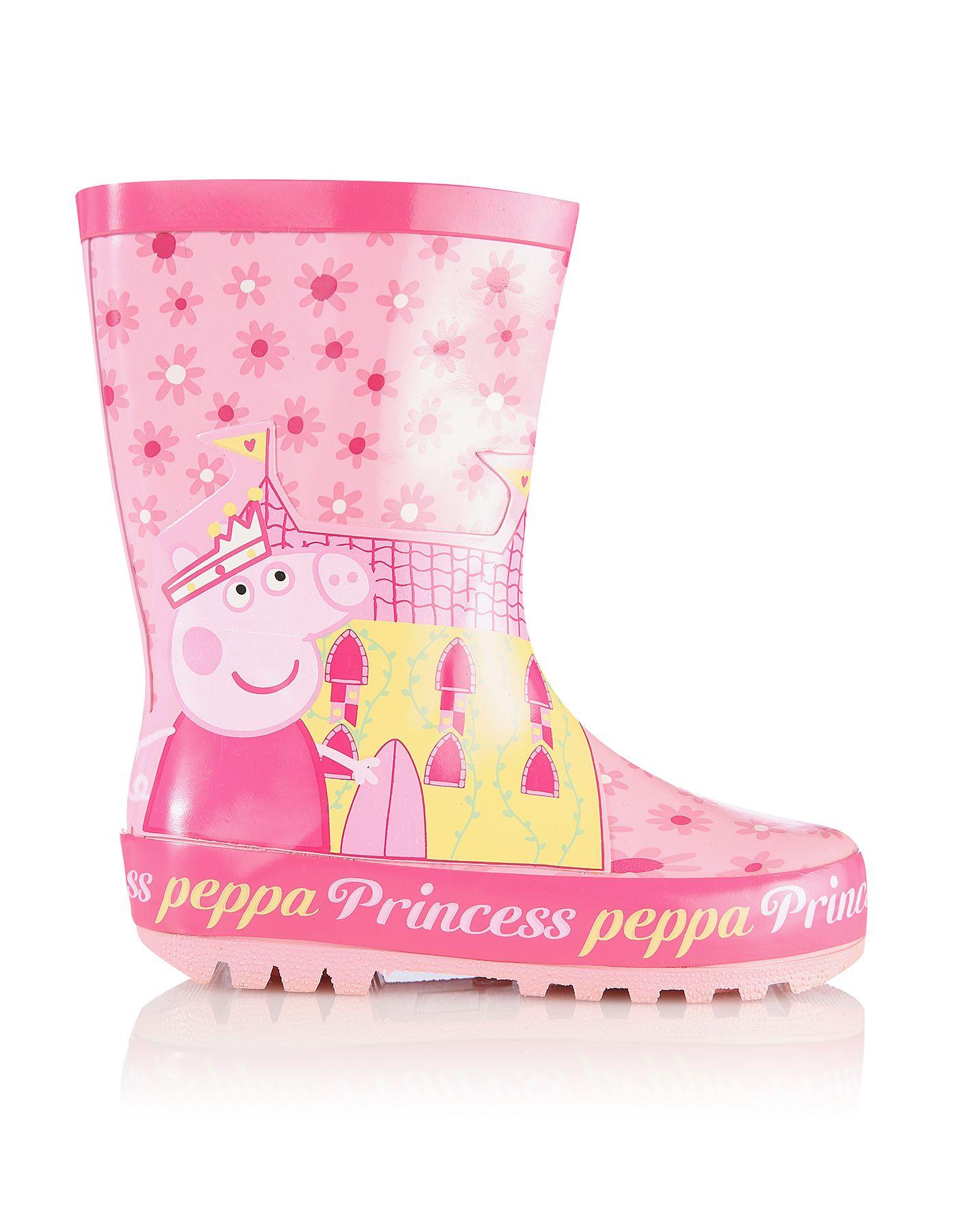 Peppa Pig Princess Wellington Boots Awesomeness Fashion Glitz