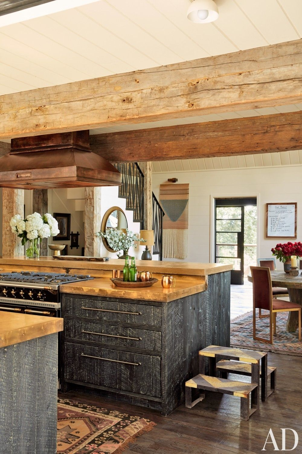 Rustic Style Mountain Home Cabin Design Country Kitchen Rustic House Cabin Design