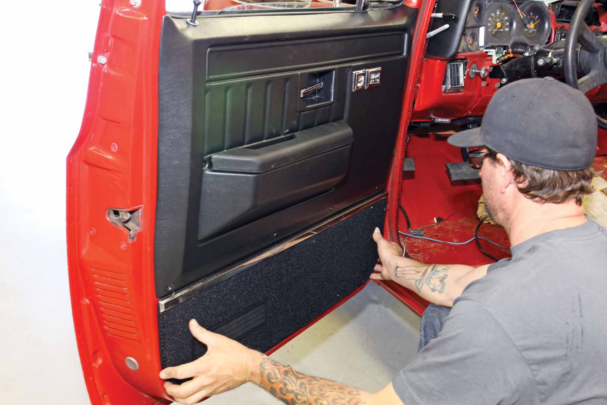 New Door Panels Make A Major Improvement In Appearance The Old Ones Unscrewed And Popped Up Away From The Door The New Door P Lmc Truck Truck Interior Trucks