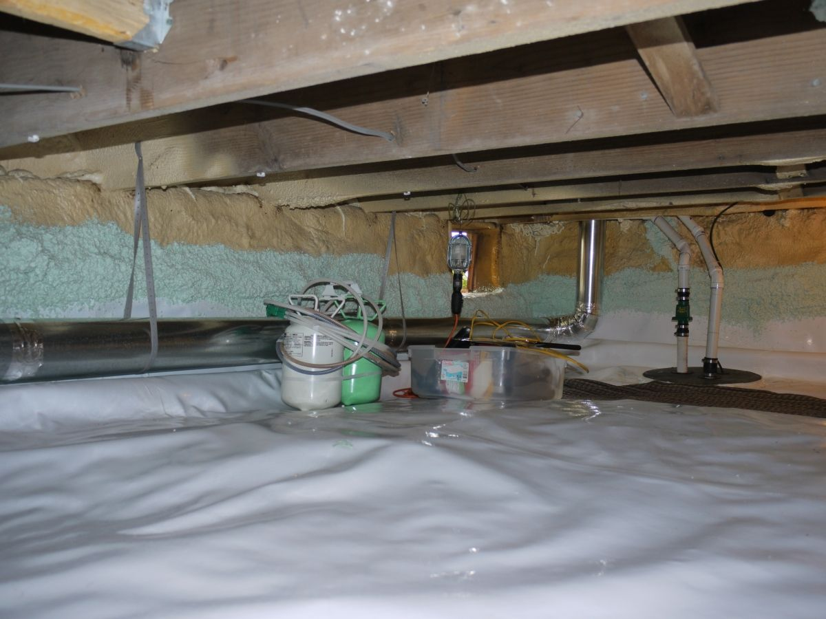 spray foam applied to top edge of a crawl space vapor barrier to rh pinterest com