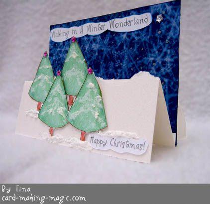Pop-up christmas card, handmade
