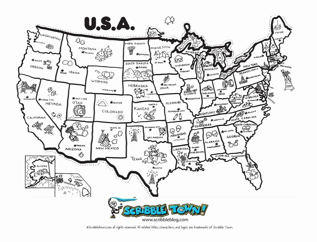 Us Maps Coloring Pages In
