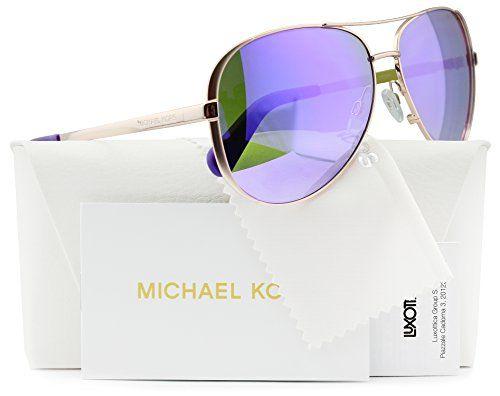 0ba85918eb85 Michael Kors MK5004 Chelsea Aviator Sunglasses Rose Gold w/Purple Mirror  (1003/4V) MK 5004 10034V 59mm Authentic - Reviews