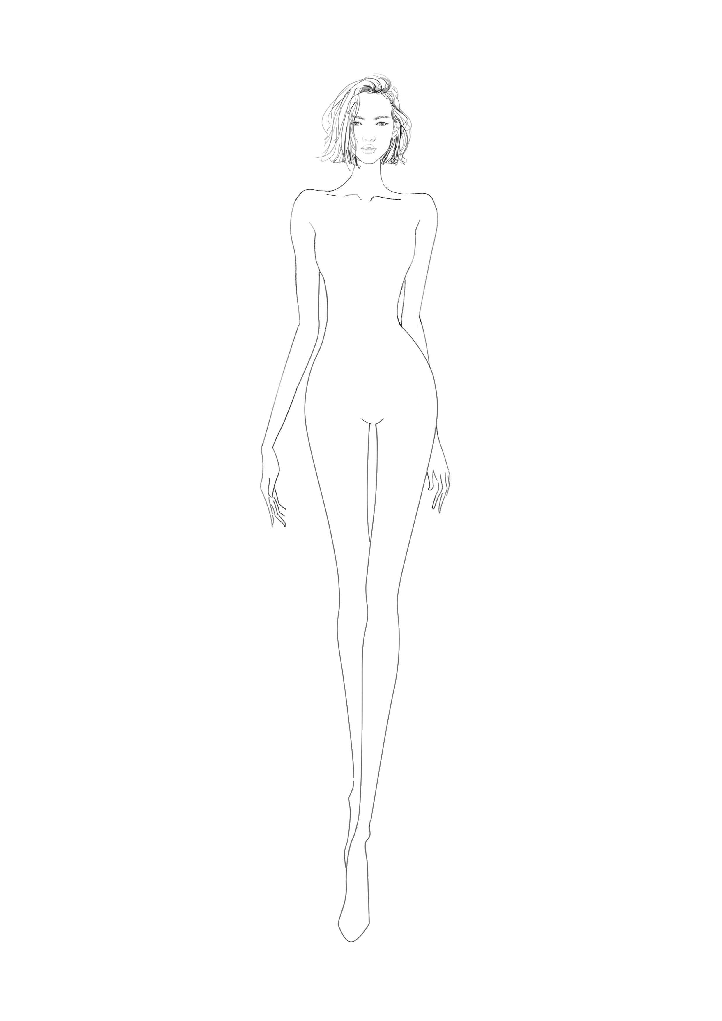 Salvabrani Fashion Model Sketch Fashion Figure Drawing Fashion Figures