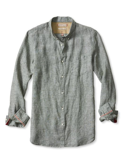 f38cd0a559 Heritage Textured Linen Shirt