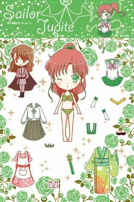 Sailor Moon Anime Muñecas De Papel Juguetes De Papel Y