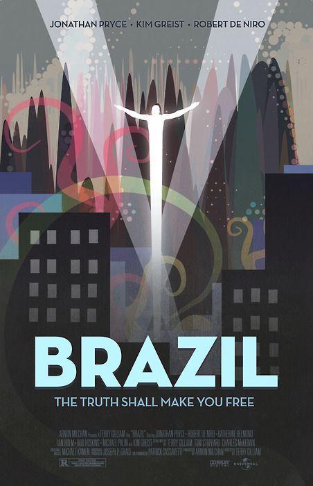 brazil minimalist movie poster movie in 2018 pinterest movie
