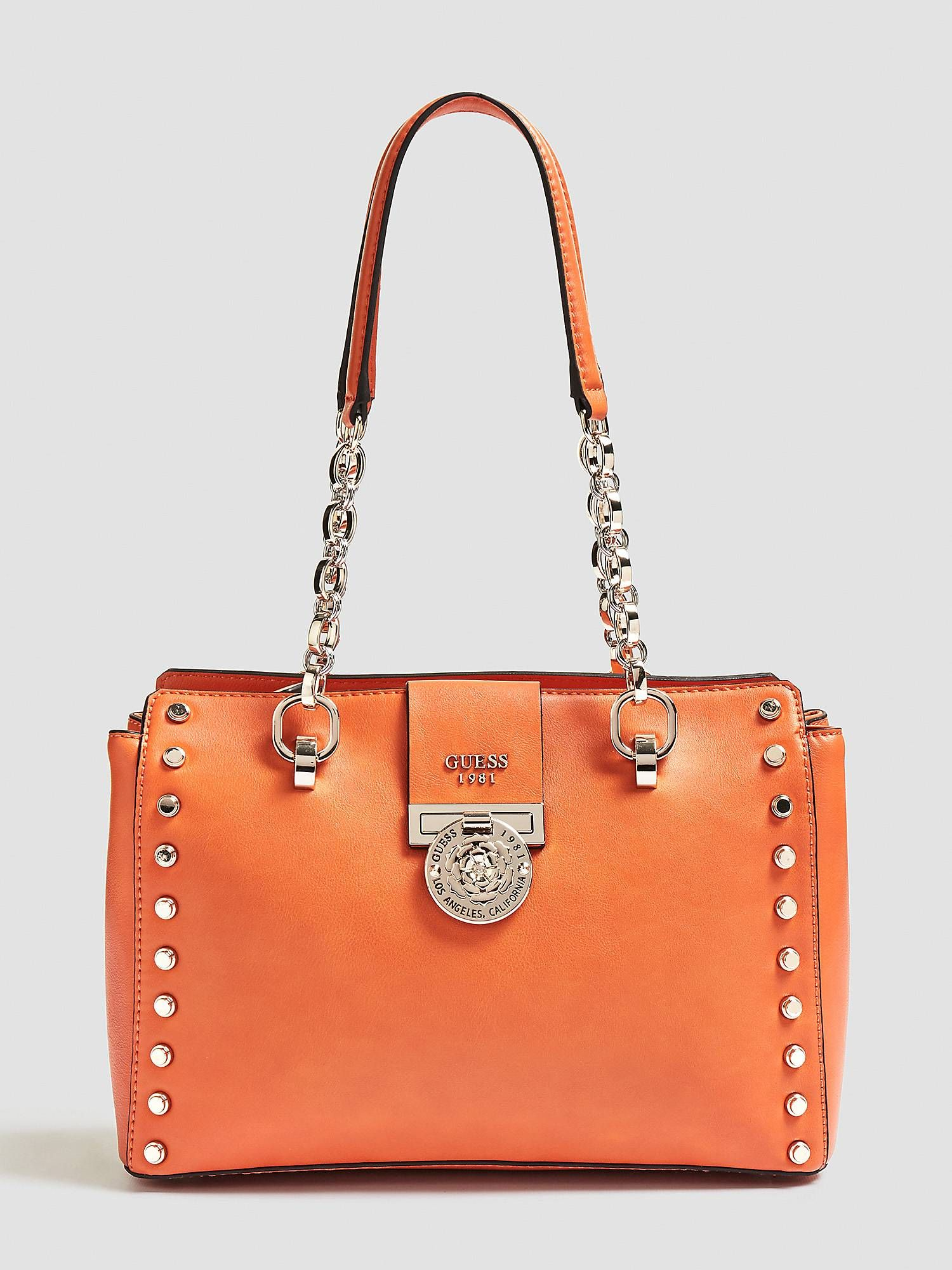 30dc7b4f12e SAC MARLENE APPLICATIONS CLOUS Orange Guess.  Sacamain  Guess   SacsamainGuess  Sacsguess