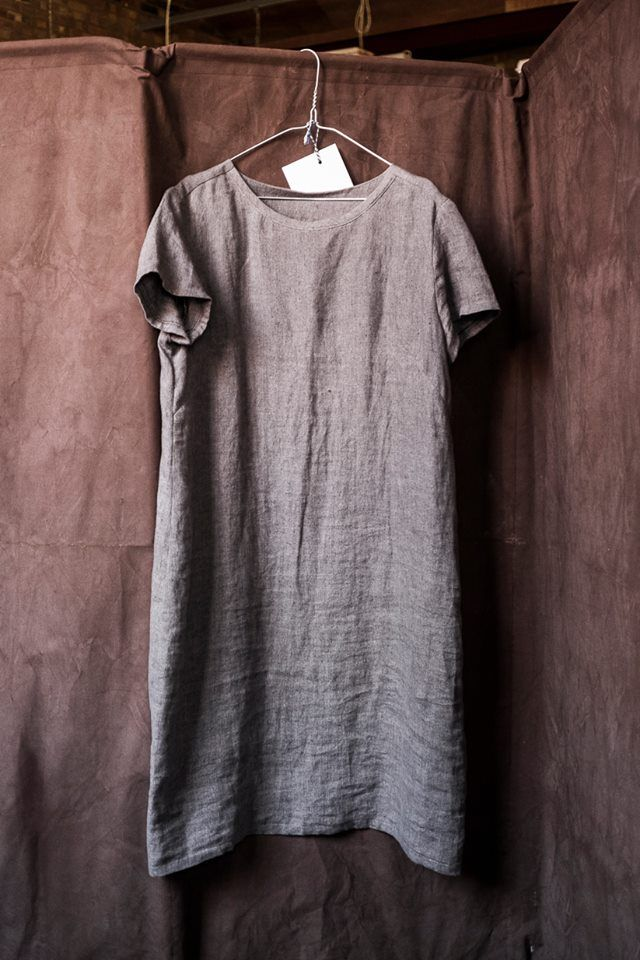 Merchant & Mills Camber Set dress in silt grey linen | Outfit Ideas