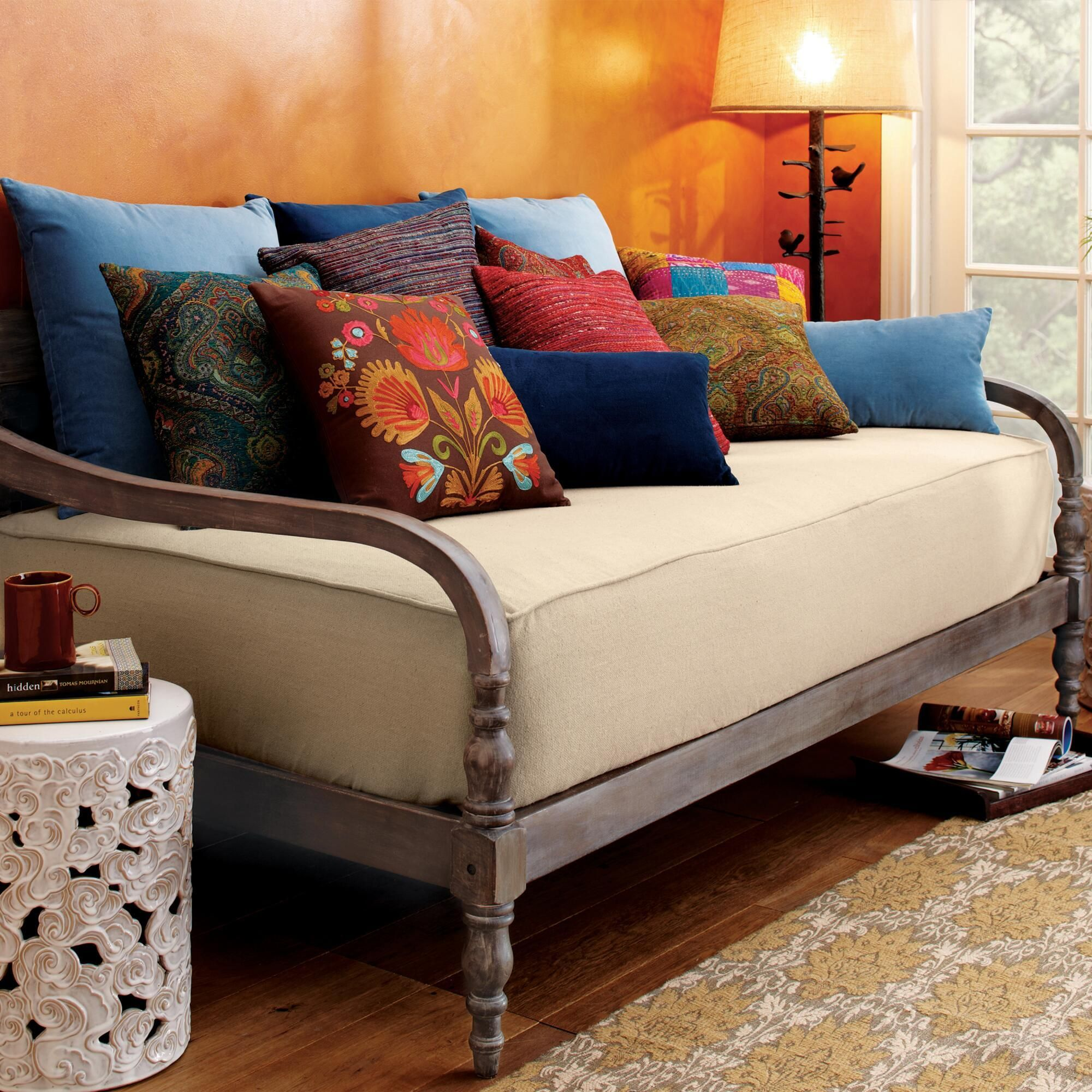 indonesian daybed frame daybed patios and living rooms. Black Bedroom Furniture Sets. Home Design Ideas