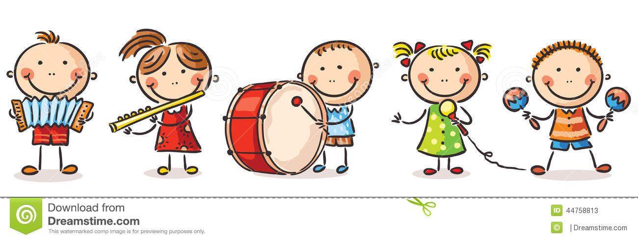 gallery for u003e children playing musical instruments clipart rh pinterest co uk Music Teacher Clip Art Music Teacher Clip Art
