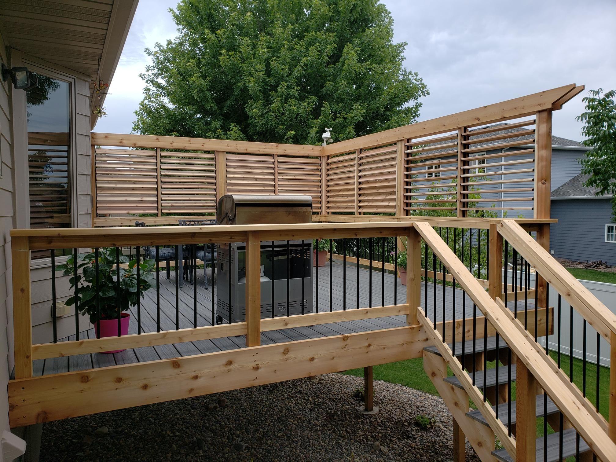 Outdoor Bbq Louvered Enclosures Flex Fence Louver System