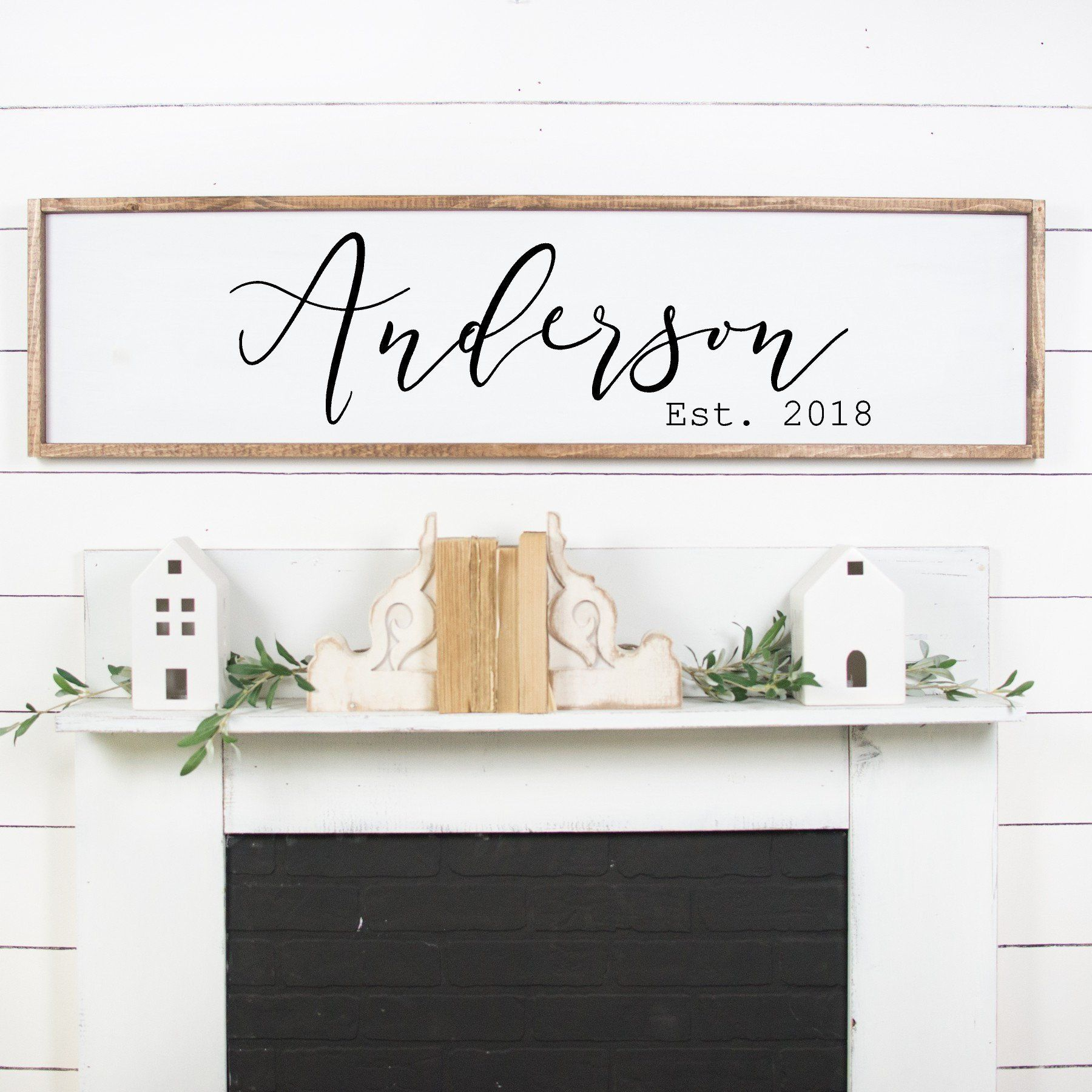 Personalized Signs For Home Decorating: Farmhouse Style Sign