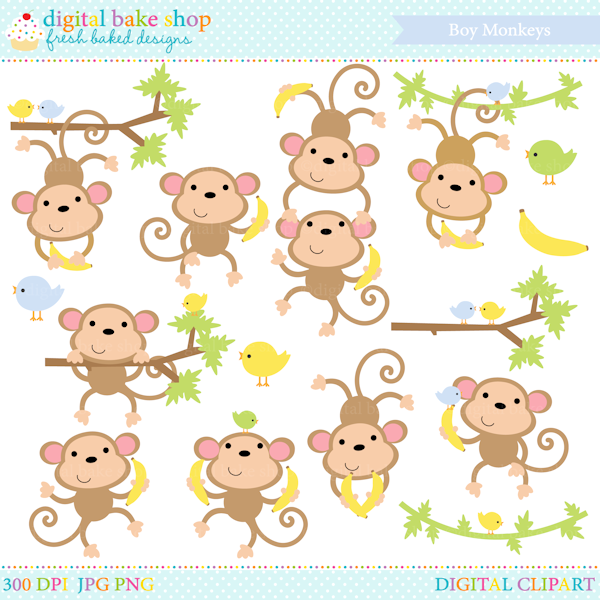 cute monkey stickers printables