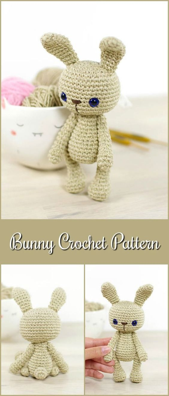 Bunny Crochet Pattern - 4-way jointed amigurumi bunny rabbit ...