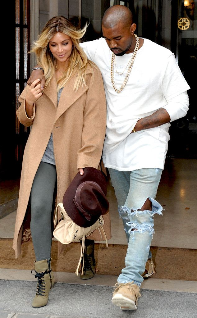 fe6a5ed28a6 Kim Kardashian & Kanye West are looking super cute together in Paris.  Adorbs!