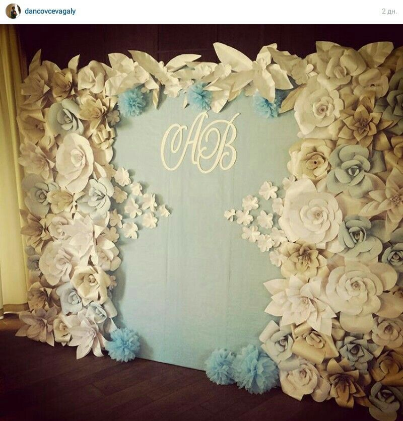 paper flowers backdrop wedding paper backdrop. Black Bedroom Furniture Sets. Home Design Ideas