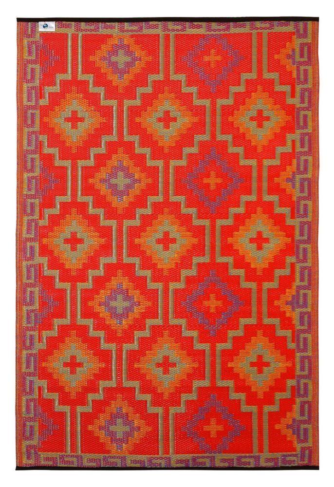 Fab Habitat Indoor Outdoor Rug Lhasa Orange Violet Teppich Lhasa Ideen