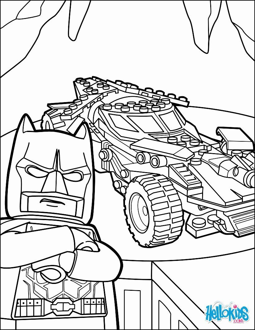 Lego Batman Coloring Book Awesome Lego Batman Batmobile Coloring Pages Hellokids Lego Coloring Pages Superhero Coloring Pages Superhero Coloring