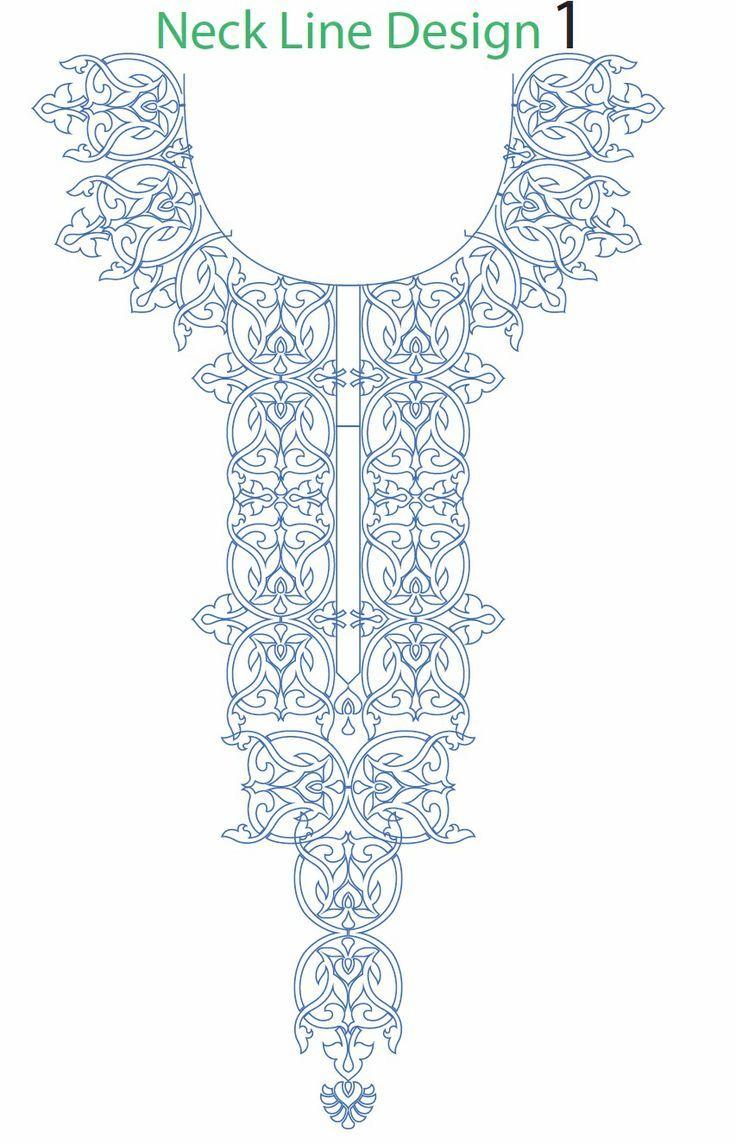 Hand embroidery designs for kurtis neck | Bordado, Bordados ...