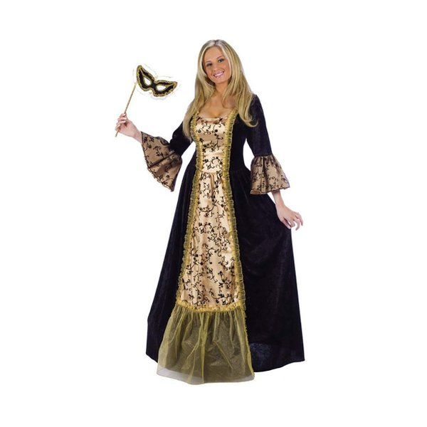 MASQUERADE QUEEN ADULT COSTUMEYou'll be the queen of the ball in this masquerade costume. Perfect for a masquerade ball or as a lady from Victorian times.  COSTUME