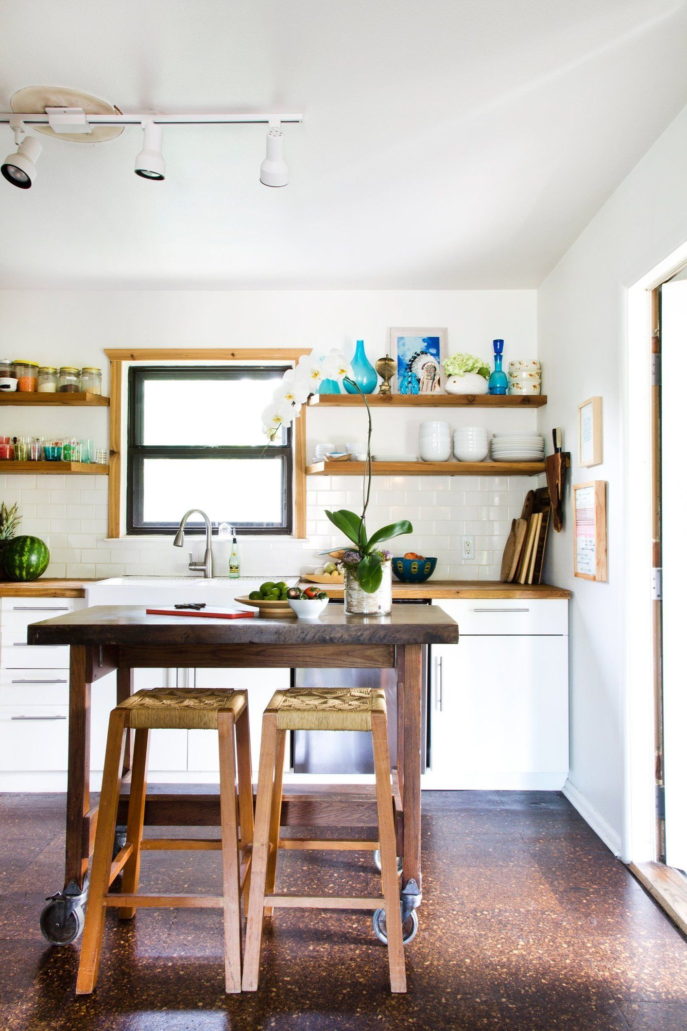 A Lovely Open Austin Kitchen With Cork Floors Lovely Kitchen