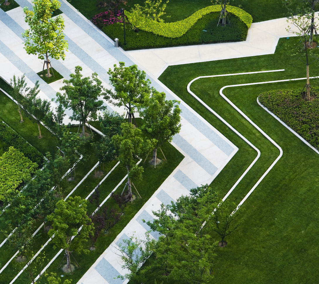 Landscape Plaza Architecture Design Amphitheater Social Environment Contemporary Master Plan Pavement