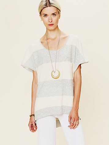 Striped Short Sleeve Sweater  http://www.freepeople.com/whats-new/striped-short-sleeve-sweater/