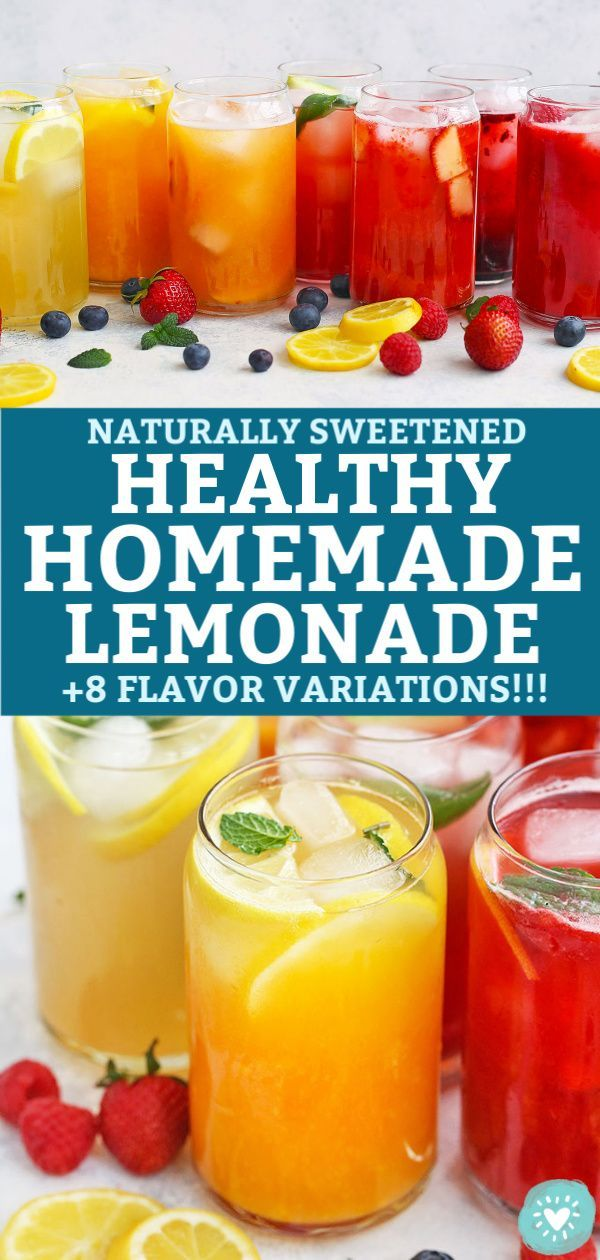 8 Amazing Flavors of Healthy Homemade Lemonade