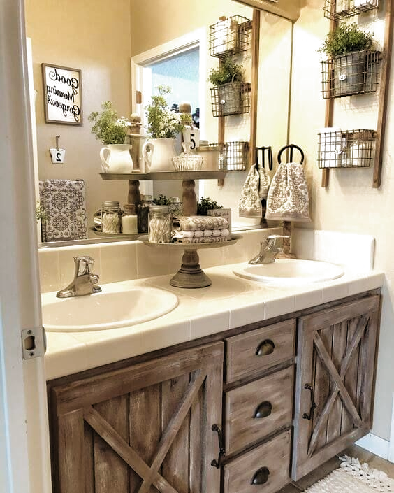 Browse Rustic Bathroom Wall Decor Ideas And Decorating Ideas Discover Inspiration For You In 2020 Rustic Bathroom Wall Decor Farmhouse Bathroom Decor Rustic Bathrooms