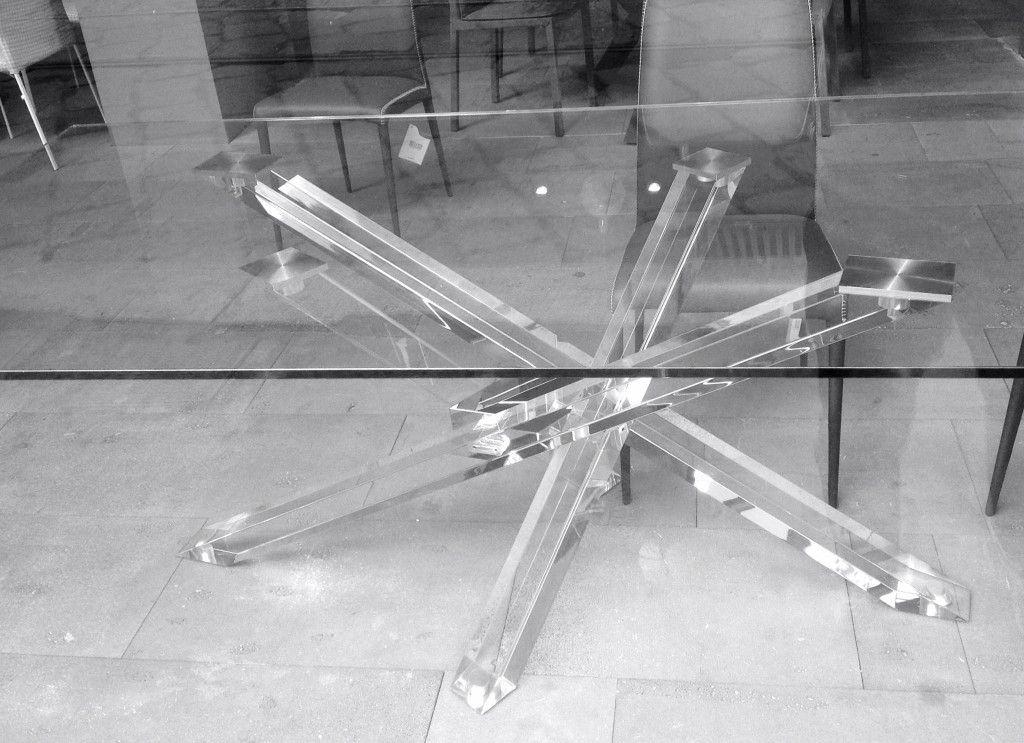 Tavolo ripiegabile ~ Tavolo in legno o vetro shangai small tavolo con base in alluminio