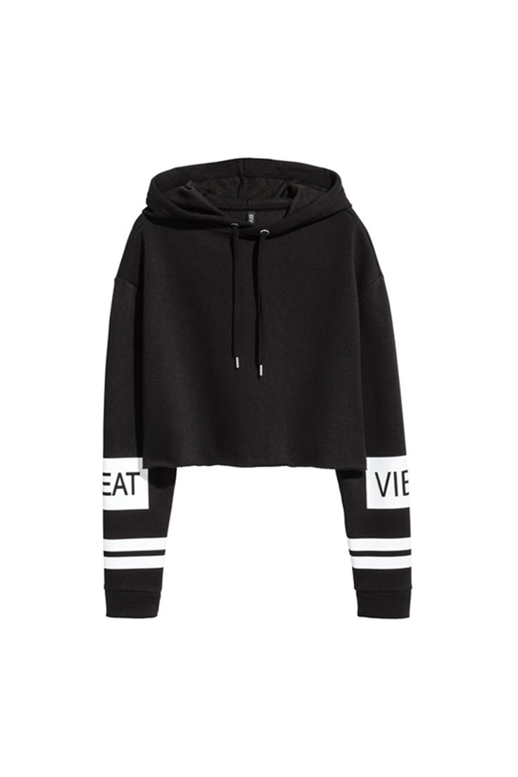 7f032b47 This black-and-white H&M hoodie is fit for a fashion girl ...