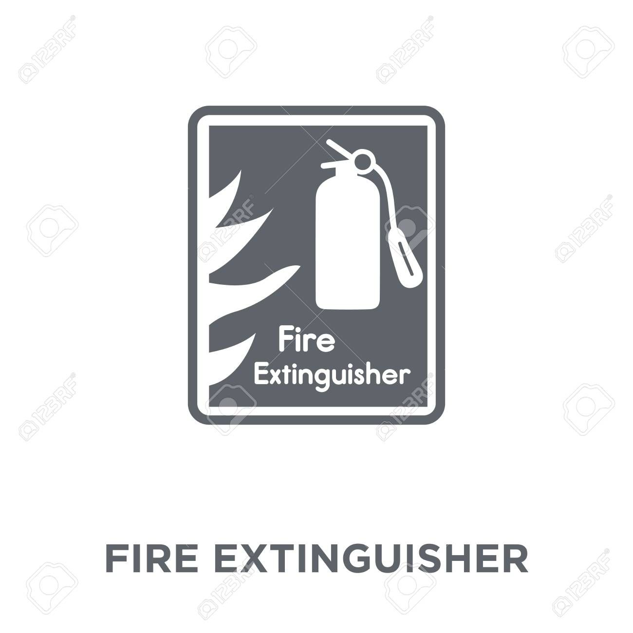 Fire Extinguisher Icon Fire Extinguisher Design Concept From Hotel Collection Simple Element Vector Illustr In 2020 Fire Extinguisher Hotel Collection Concept Design