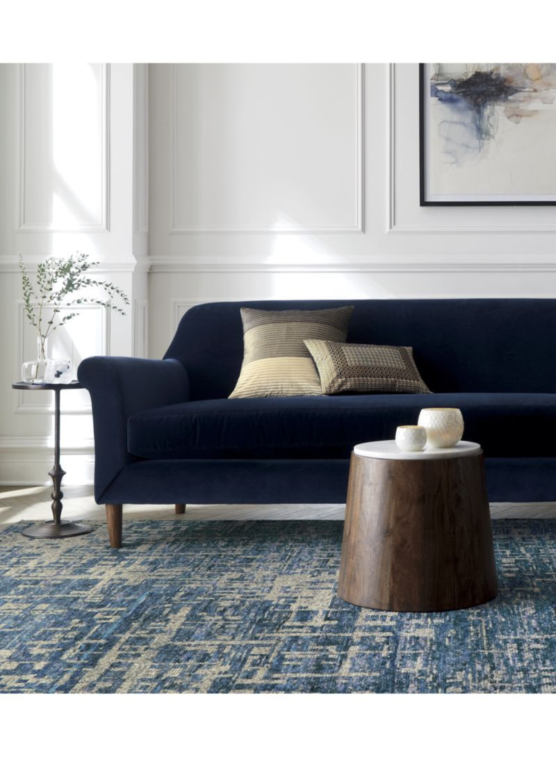 Celosia Indigo Blue Hand Knotted 12 Sq Rug Swatch Crate And Barrel
