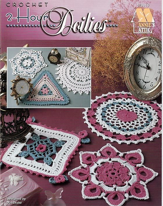 2 Hour Doilies To Crochet Pattern Book Annies Attic Dainty