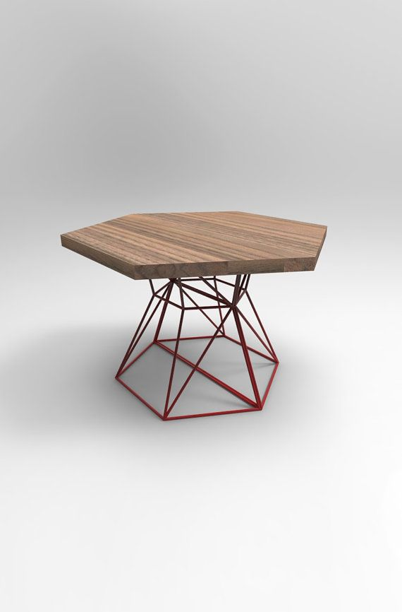 Outstanding Modern Dining Table With Hexagon Extension Top In By Pabps2019 Chair Design Images Pabps2019Com