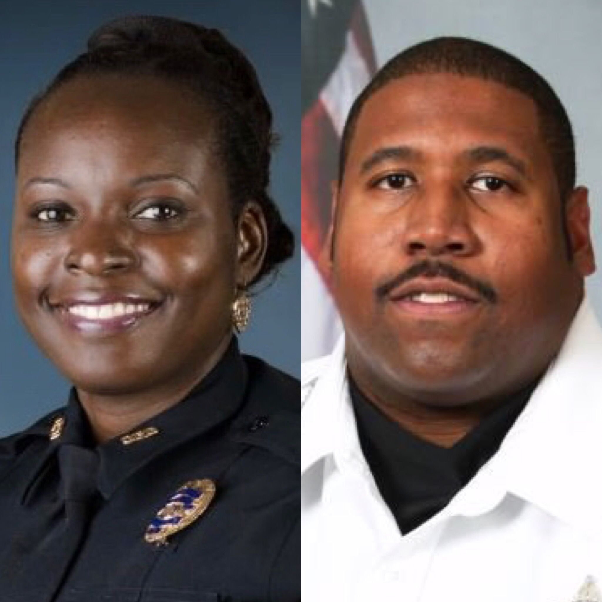 Deputy First Class Norman Lewis of the Orange County Sheriff's Office (R)  killed in