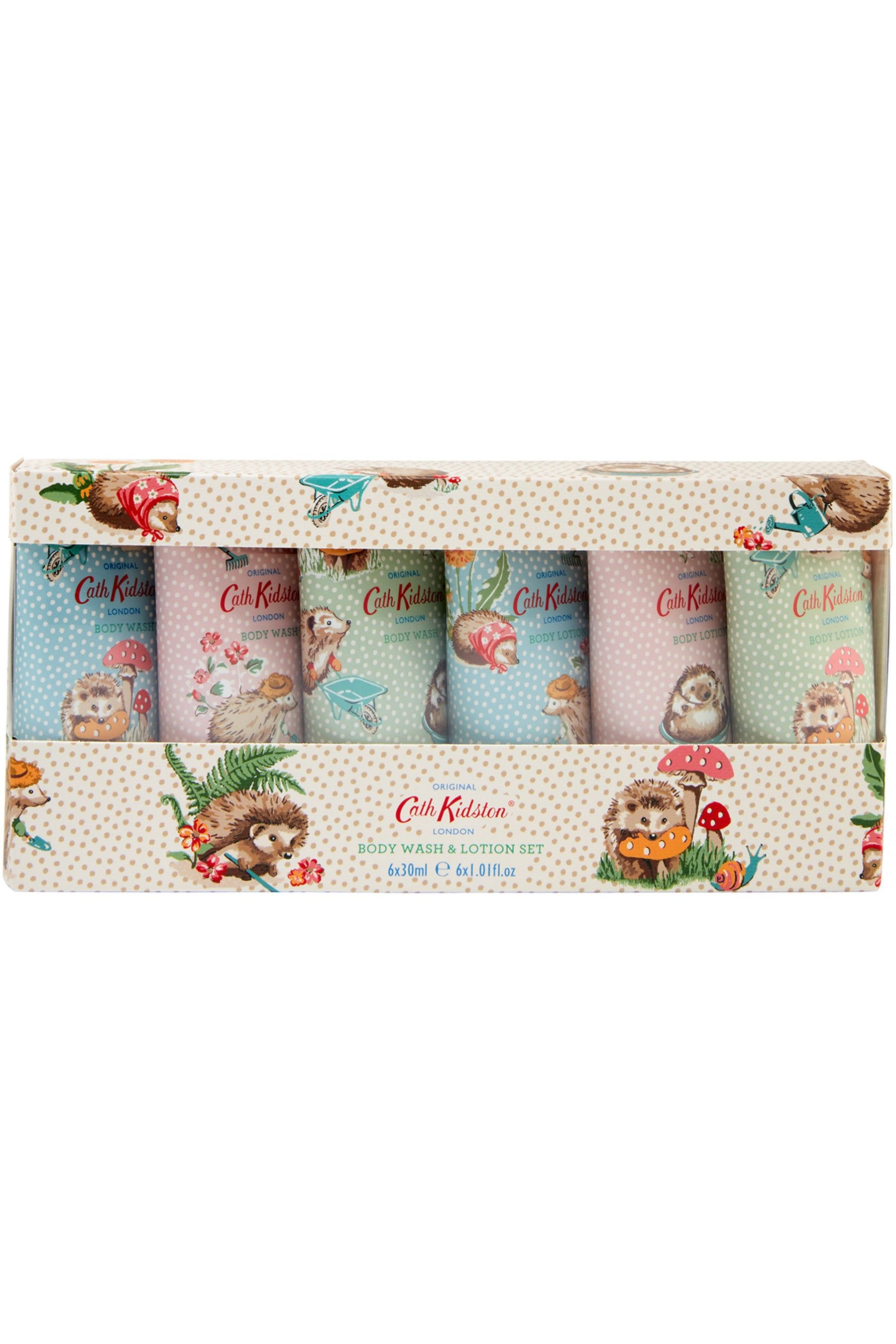 Womens Cath Kidston Gardeners Club Body Wash Lotion Set Body