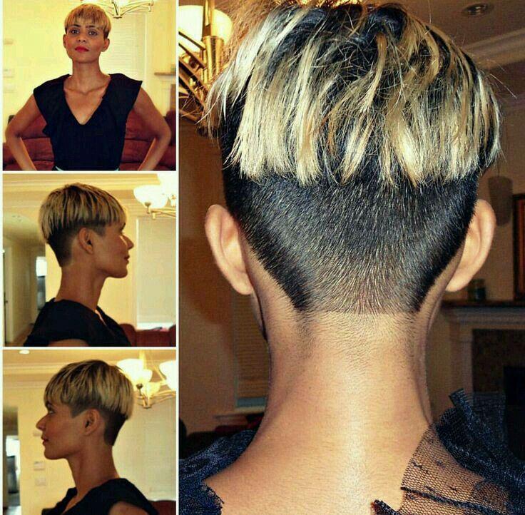 Pin on Super short hair