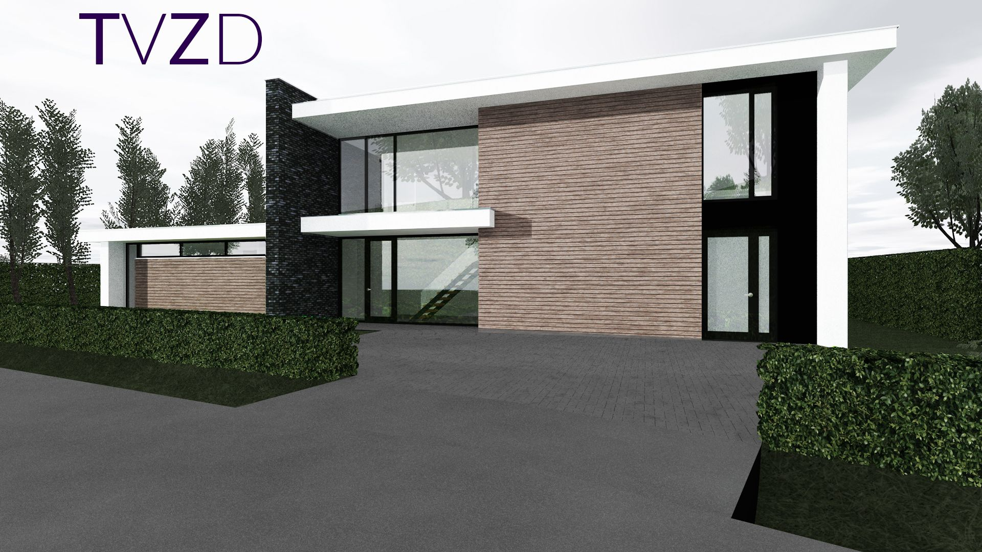 Moderne hedendaagse architectuur style modern