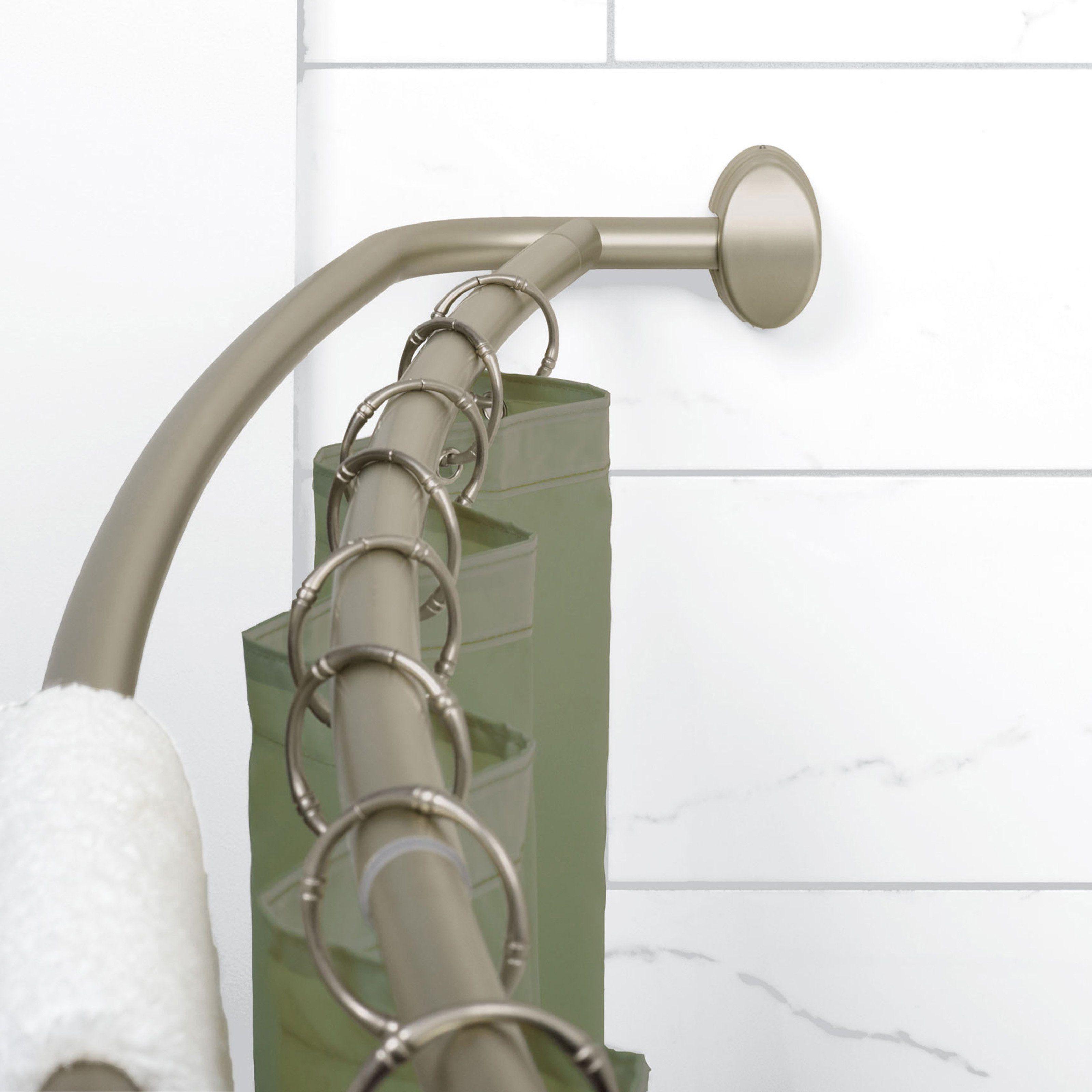 Zenith E35604bn Double Curved Shower Rod E35604bn01 Shower Rod Shower Curtain Rods Curtain Rods