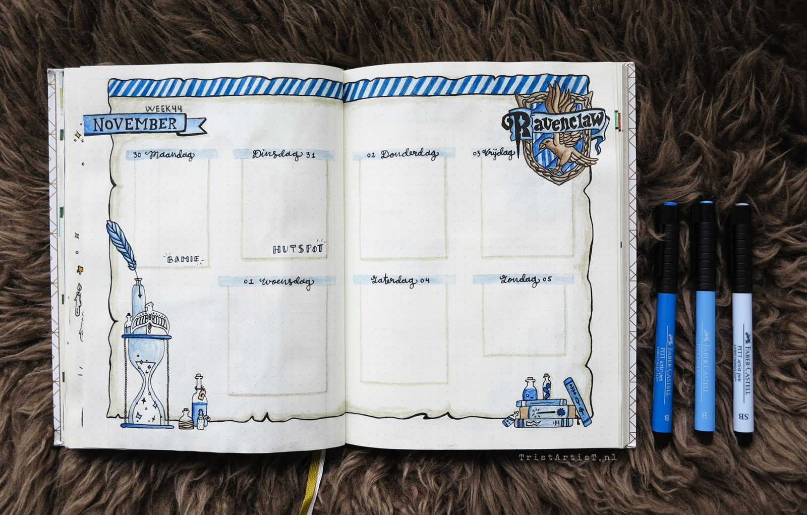 Bullet Journal Harry Potter Gryffindor Weekly Bullet Journal