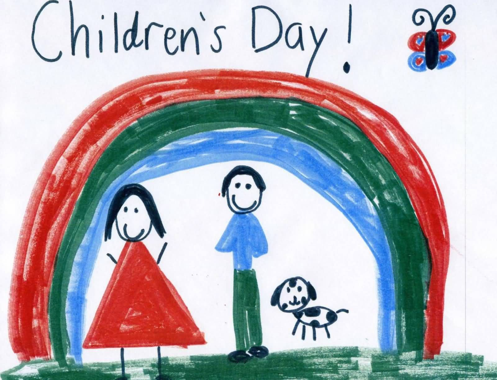 Wish You Happy Childrens Day Hand Made Greeting Card Childrens