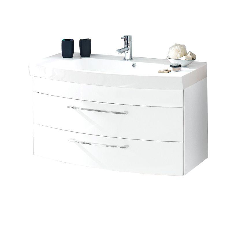 Badezimmer Waschplatz VERONA Hochglanz weiß Jetzt bestellen unter ...